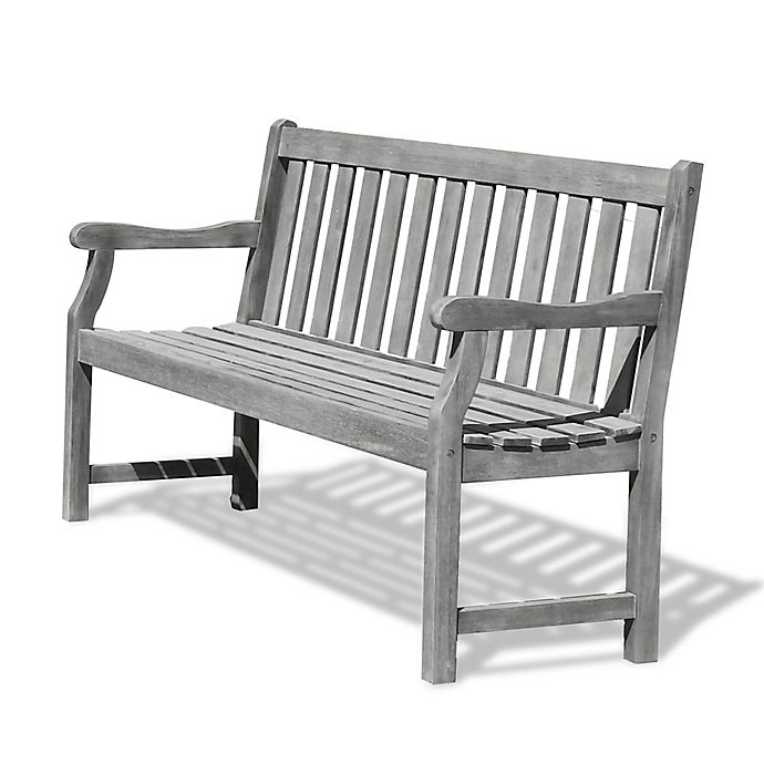 Alternate image 1 for Vifah Renaissance 5-Foot Outdoor Bench in Grey