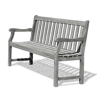 Vifah Renaissance 5-Foot Outdoor Bench in Grey
