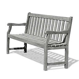 Vifah Renaissance 5-Foot Outdoor Bench in Grey