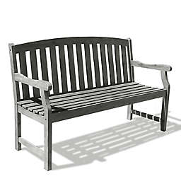 Vifah Renaissance Outdoor Bench Collection in Grey