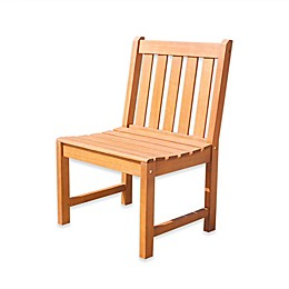 Vifah Malibu Outdoor Dining Chair in Natural Wood