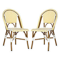 Safavieh Salcha Indoor/Outdoor Stackable Side Chair (Set of 2)