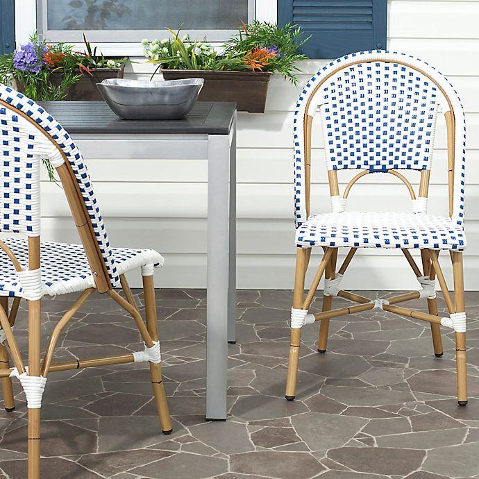 Alternate image 1 for Safavieh Salcha Indoor/Outdoor Stackable Side Chair (Set of 2)