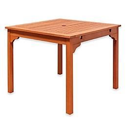 Vifah Ibiza Outdoor End Table in Natural Wood