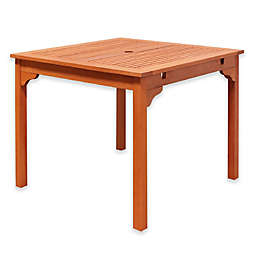 Vifah Ibiza Outdoor End Table in Natural Wood