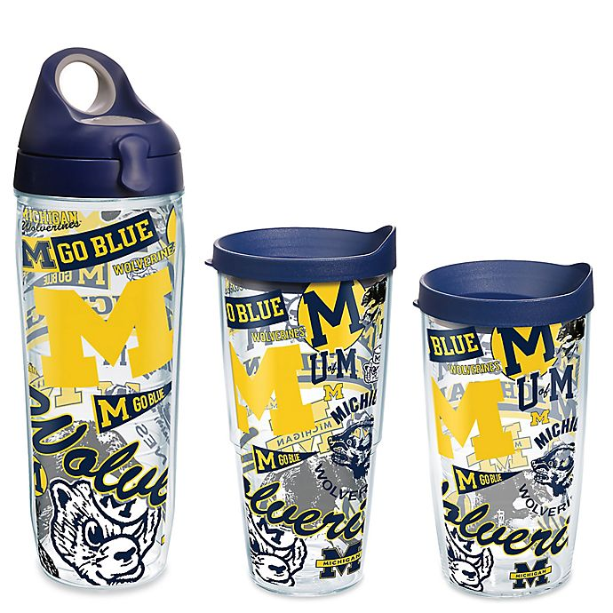Alternate image 1 for Tervis® University of Michigan All Over Wrap Drinkware with Lid