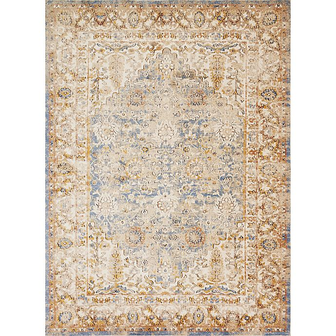 Alternate image 1 for Magnolia Home by Joanna Gaines Trinity 6-Foot 7-Inch x 9-Foot 2-Inch Rug in Blue