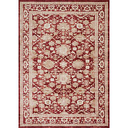 Magnolia Home by Joanna Gaines Trinity 2-Foot 7-Inch x 4-Foot Accent Rug in Crimson