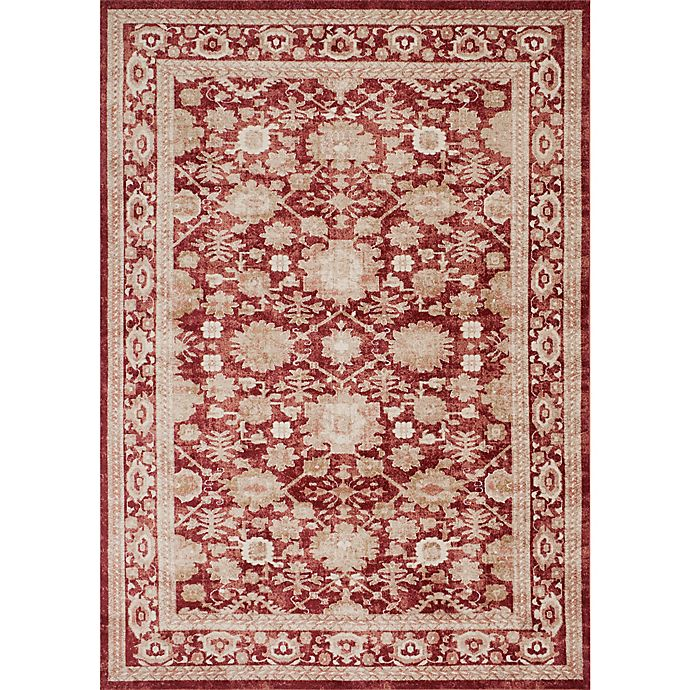 Alternate image 1 for Magnolia Home by Joanna Gaines Trinity13-Foot x 18-Foot Area Rug in Crimson