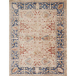 Magnolia Home by Joanna Gaines Trinity Floral Rug in Sand/Blue