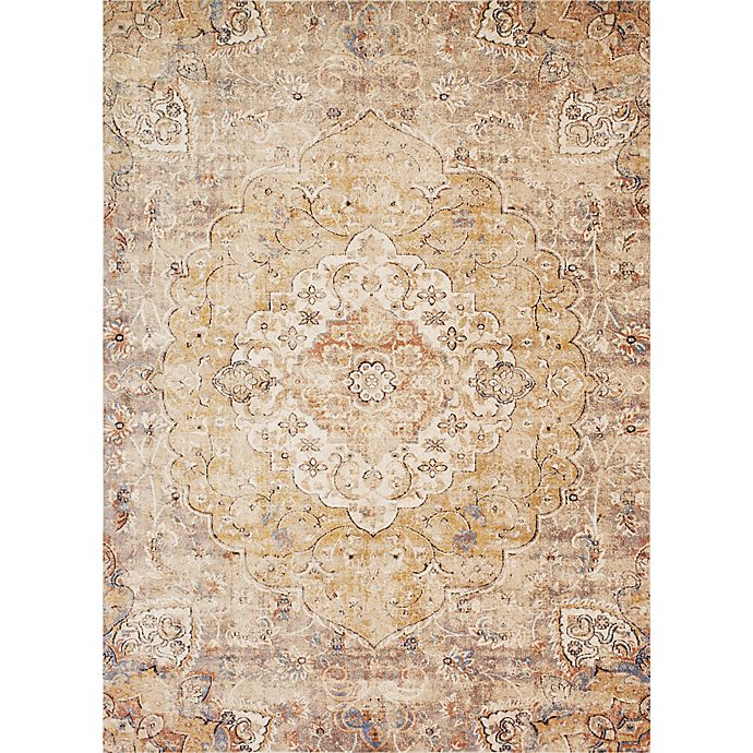 Alternate image 1 for Magnolia Home by Joanna Gaines Trinity 5-Foot 3-Inch x 7-Foot 6-Inch Area Rug in Ivory/Sand