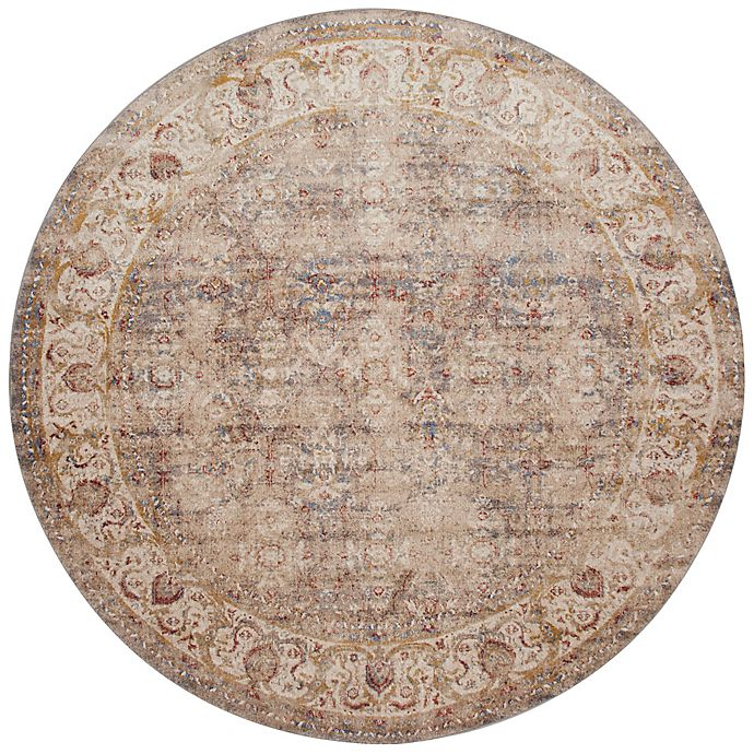 Alternate image 1 for Magnolia Home by Joanna Gaines Trinity Border Vines 9-Foot 6-Inch Round Area Rug in Sand/Ivory