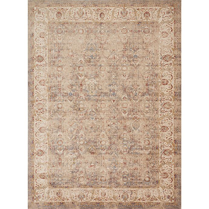 Alternate image 1 for Magnolia Home by Joanna Gaines Trinity Border Vines 9-Foot 6-Inch x 13-Foot Area Rug in Sand/Ivory