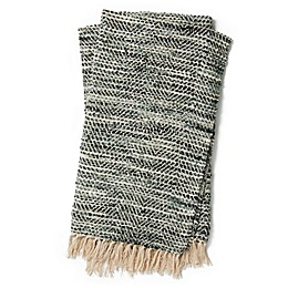 Magnolia Home by Joanna Gaines Bree Reversible Throw Blanket in Charcoal/Grey