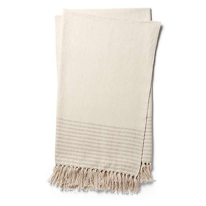Alternate image 1 for Magnolia Home by Joanna Gaines Oaks Throw Blanket in Green
