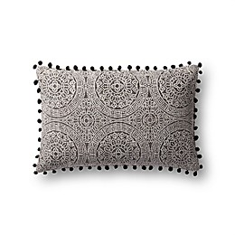 Magnolia Home by Joanna Gaines Ruby Oblong Throw Pillow in Charcoal/Black