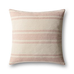 Magnolia Home by Joanna Gaines Carter Square Throw Pillow in Blush/Ivory