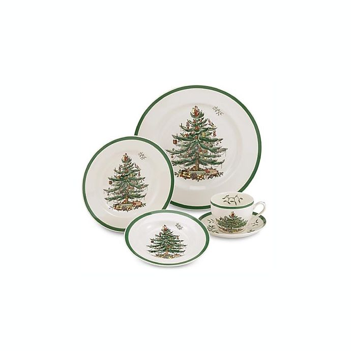 Alternate image 1 for Spode® Christmas Tree 5-Piece Place Setting