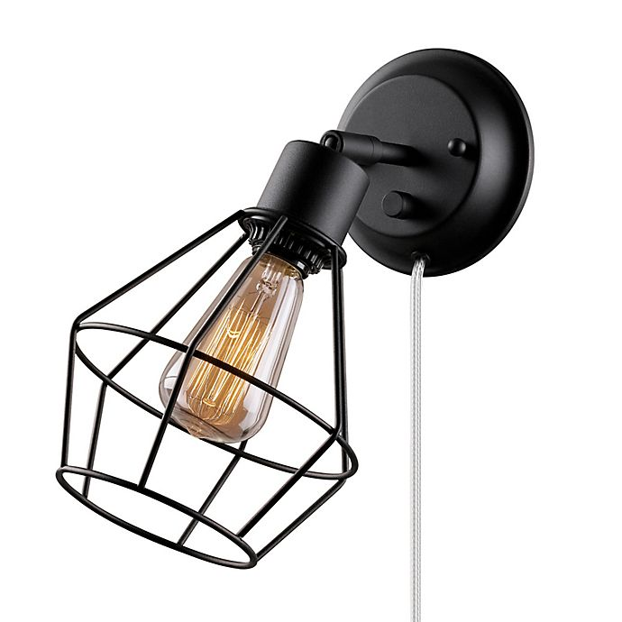 Alternate image 1 for Globe Electric Verdun 1-Light Wall Mount Wall Sconce in Black