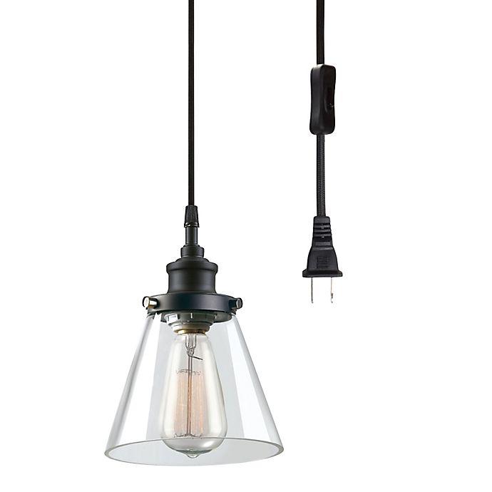 Globe Electric Company Skylar 1 Light Plug In Pendant Matte Black