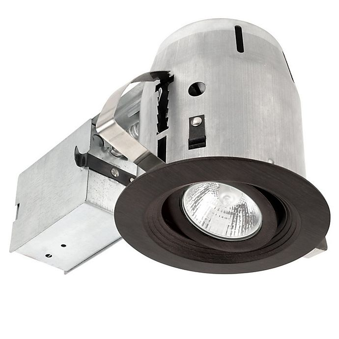 Alternate image 1 for 4-Inch Die-Cast Recessed Light Kit with LED Light