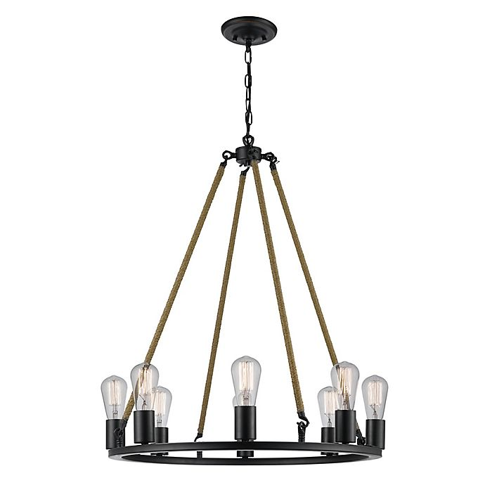 Myrcella 8-Light Twine Wrapped Chandelier in Oil Rubbed