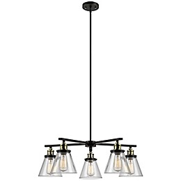 Globe Electric Company Shae 5-Light Chandelier in Oil-Rubbed Bronze
