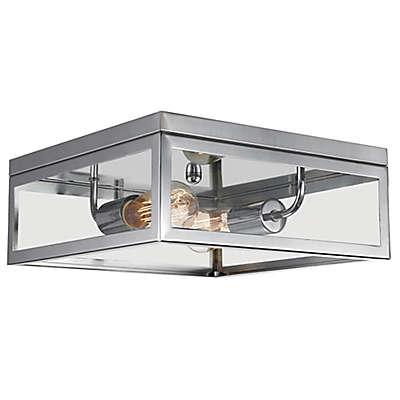 Globe Electric Memphis 2-Light Flush Mount Ceiling Light in Chrome