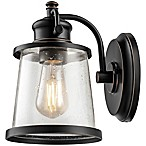 Globe Electric Charlie 1-Light Indoor/Outdoor LED Wall Sconce in Oil Rubbed Bronze with Glass Shade