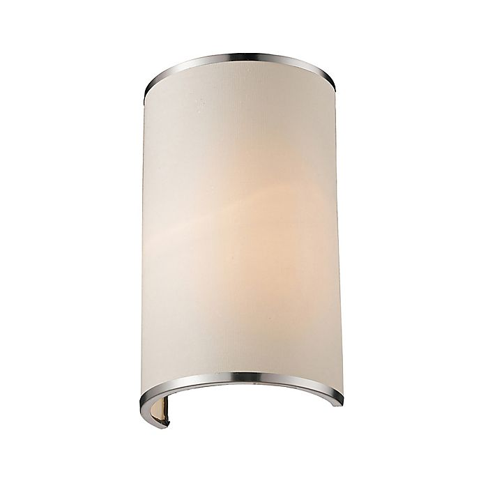 Alternate image 1 for Camie 1-Light Wall Sconce in Brushed Nickel