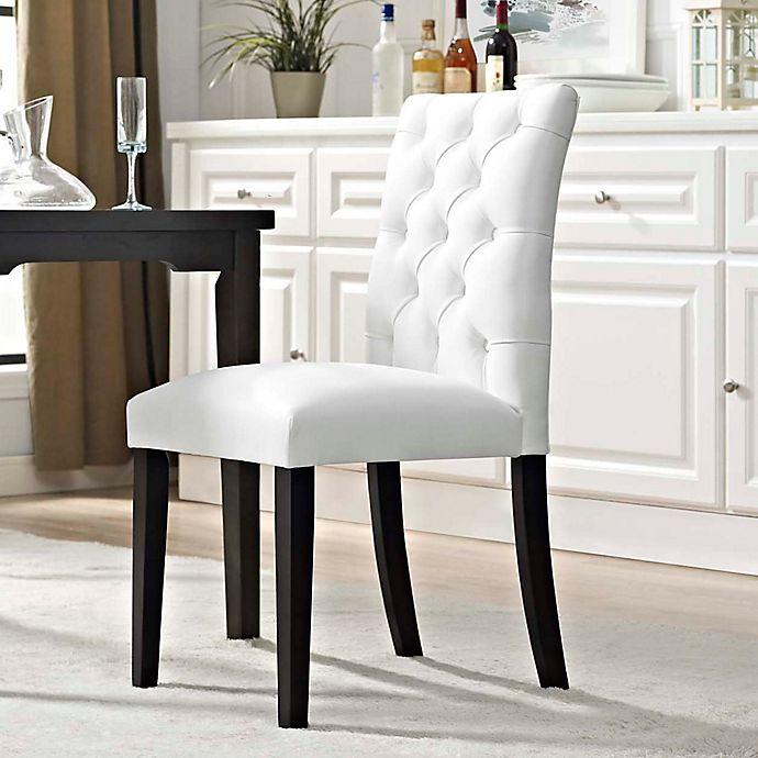 Alternate image 1 for Modway Duchess Vinyl Dining Side Chair in White