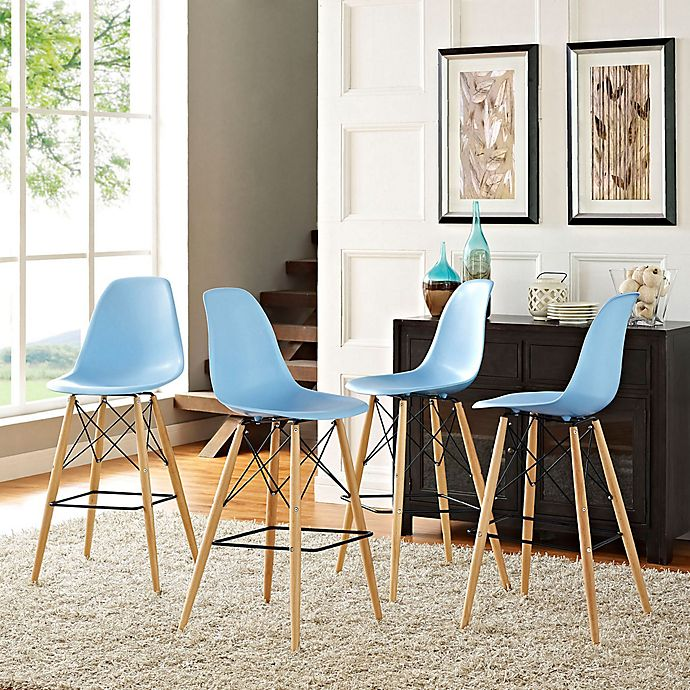 Alternate image 1 for Modway Pyramid Dining Side Bar Stools (Set of 4)