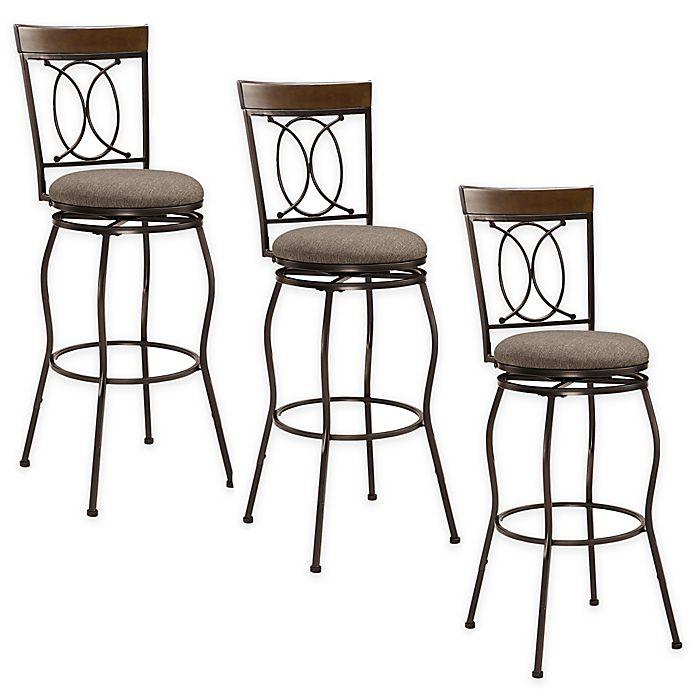 Superb Needham Adjustable Stools In Brown Set Of 3 Theyellowbook Wood Chair Design Ideas Theyellowbookinfo