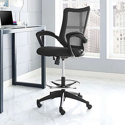 Modway Project Drafting Stool in Black