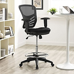 Modway Articulate Drafting Stool in Black