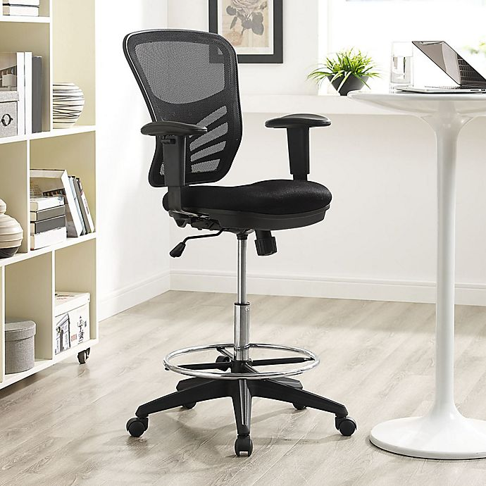 Alternate image 1 for Modway Articulate Drafting Stool in Black