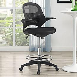 Modway Advance Drafting Stool in Black
