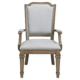 Dining Arm Chair in Palest Grey (Set of 2)