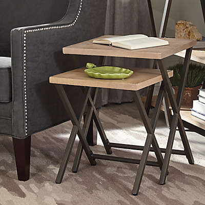 Vintage Industrial Nesting Table in Rustic