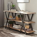Home Florence Console Table with Rustic Finish
