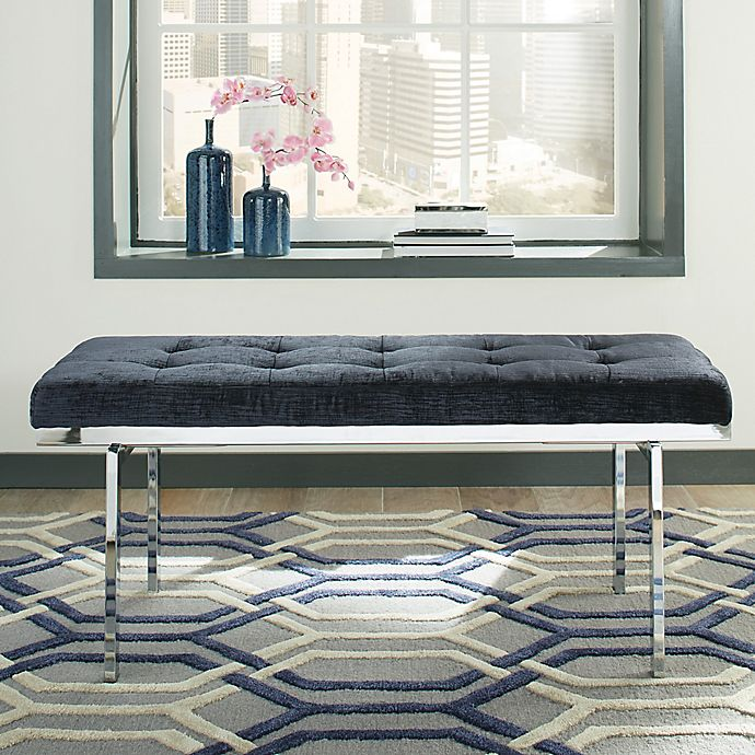 Donny Osmond Storage Bedroom Bench Reviews: Donny Osmond Home Fashionable Bench In Lush Ink Blue