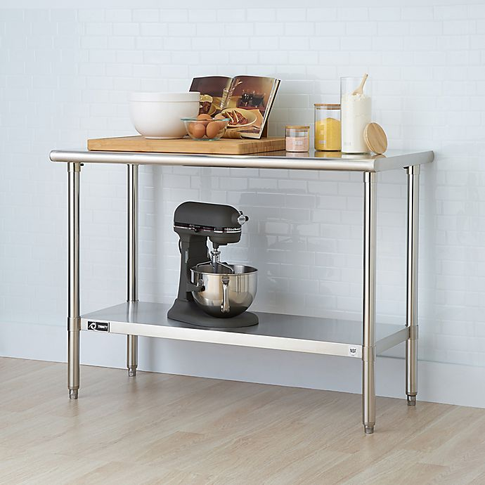 Trinity Ecostorage 48 Inch Nsf Table In Stainless Steel Bed Bath Beyond
