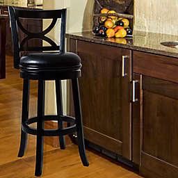 Nottingham Home Swivel Bar Stool in Black