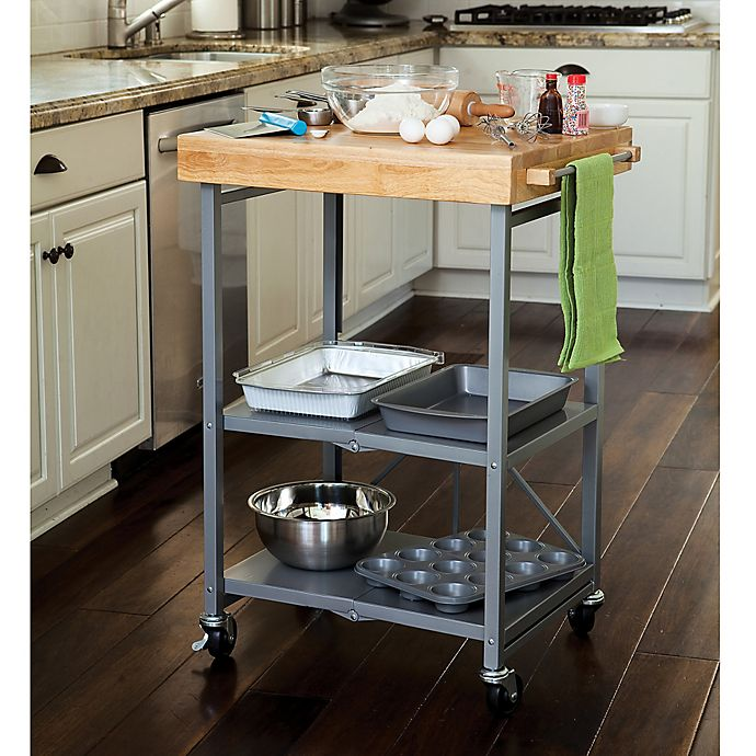 Buy Origami Kitchen Cart In Grey From Bed Bath Amp Beyond