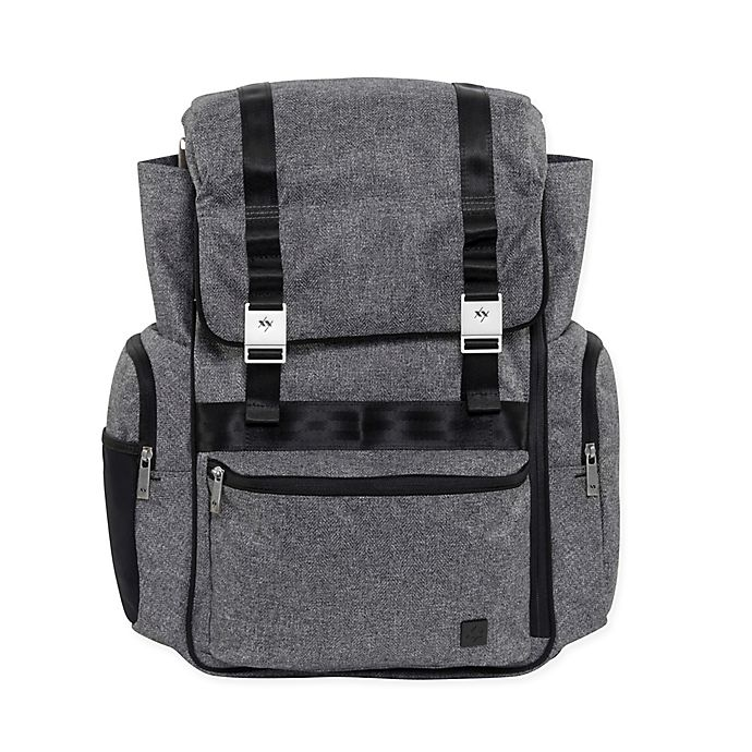 Alternate image 1 for XY by Ju-Ju-Be® Hatch Diaper Bag in Grey