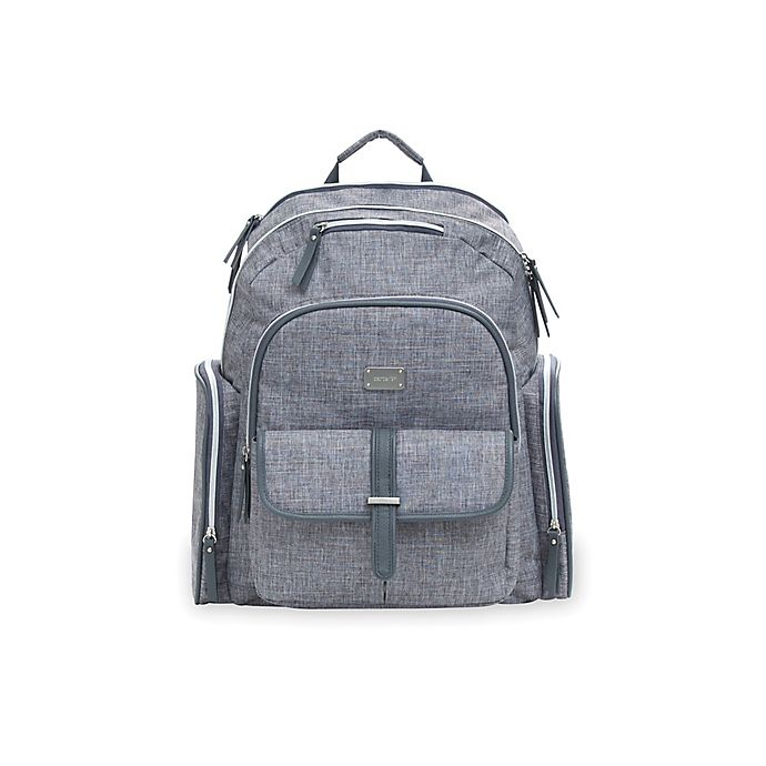 Alternate image 1 for carter's® Cross Hatch Sport Backpack Diaper Bag in Grey