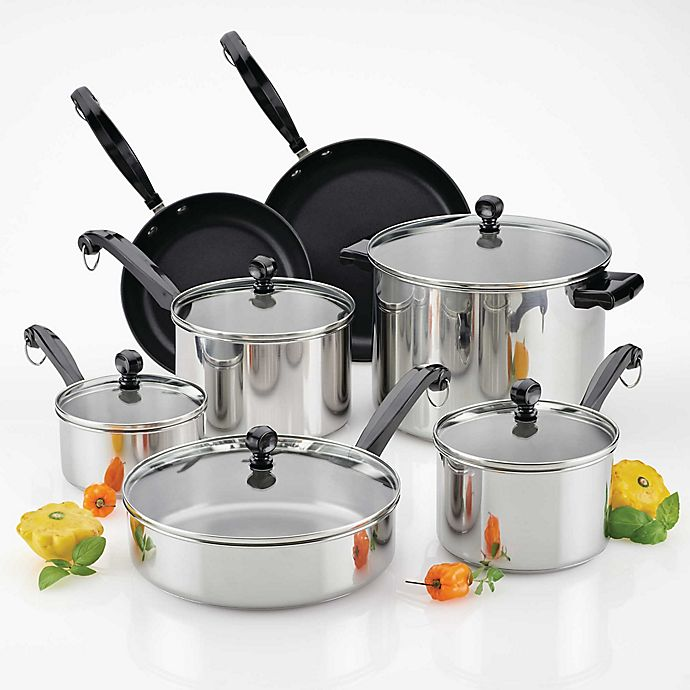 Alternate image 1 for Farberware® Classic Series™  II Stainless Steel 12-Piece Cookware Set