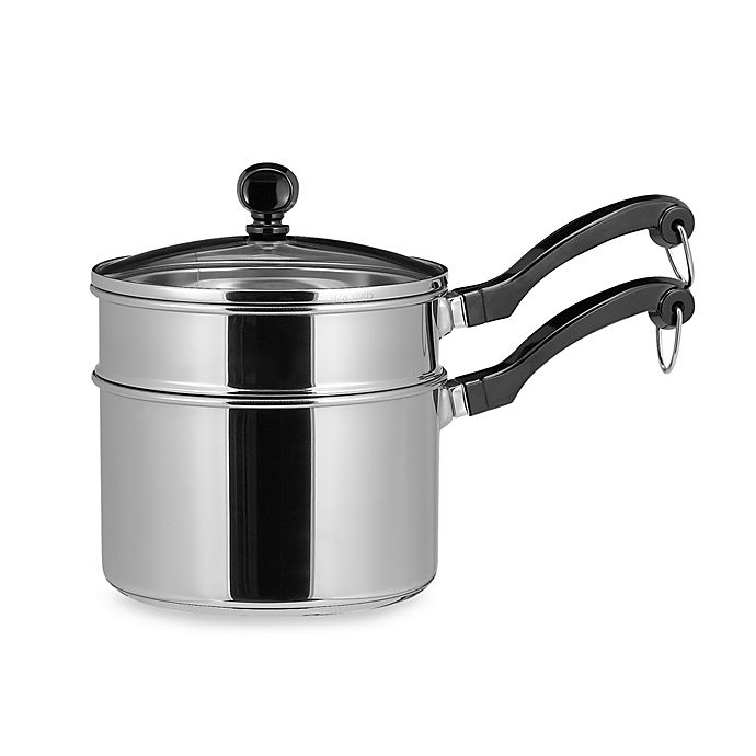 Alternate image 1 for Farberware® Classic Series™ Stainless Steel 2-Quart Sauce Pan with Double Boiler Insert