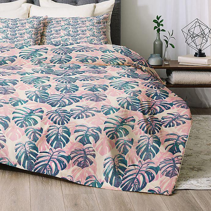 Alternate image 1 for Deny Designs Pinky Palms Comforter Set in Blue