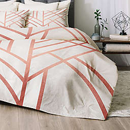 Deny Designs Art Deco 2-Piece Twin/Twin XL Comforter Set in Rose Gold